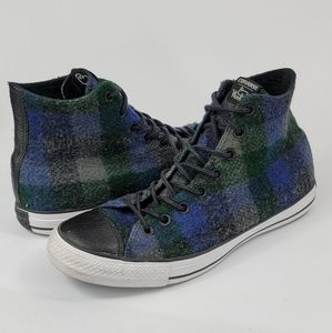 Converse Woolrich Men's Plaid Wool Shoes Size 9.5